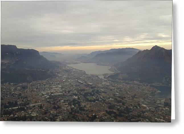 Lake Garlate Lecco Italy Greeting Card
