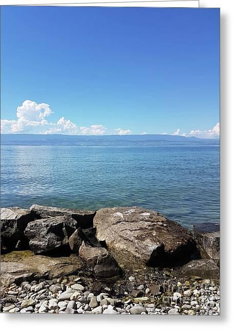 Lake Geneva. France Greeting Card by Bernard Jaubert