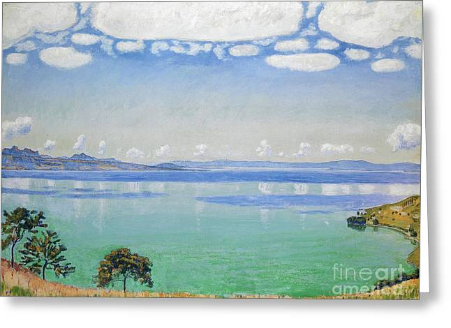 Lake Geneva, Seen From Chexbres Greeting Card