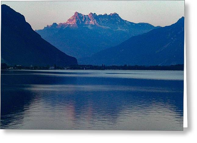 Lake Geneva, Switzerland Greeting Card