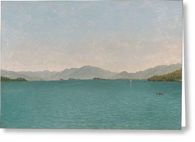 Lake George, Free Study Greeting Card by John Frederick Kensett