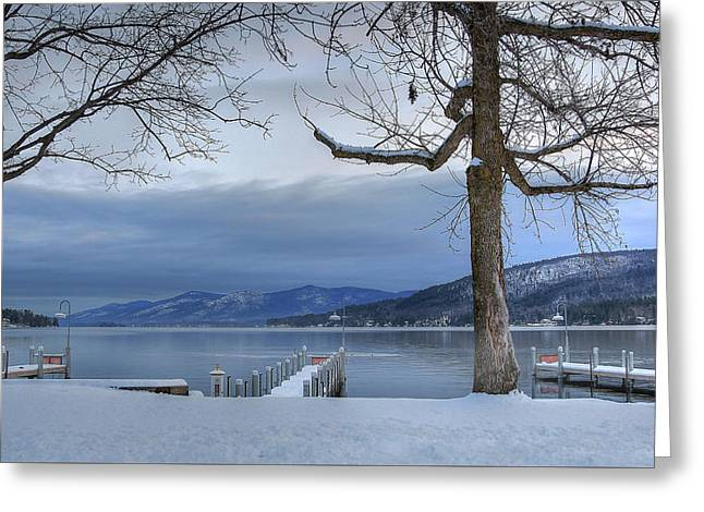 Lake George In The Winter Greeting Card