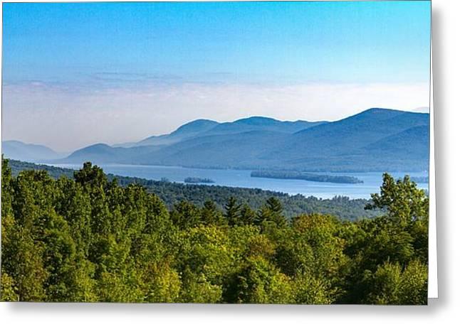 Lake George, Ny And The Adirondack Mountains Greeting Card