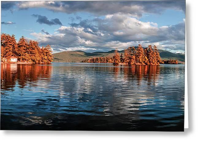 Lake George Panorama  Greeting Card