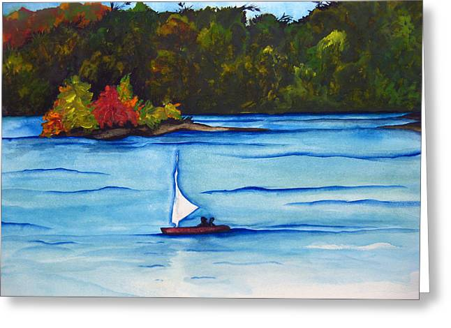 Greeting Card featuring the painting Lake Glenville  Sold by Lil Taylor