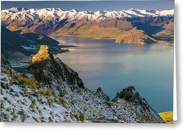 Lake Hawea 4 Greeting Card by Martin Capek
