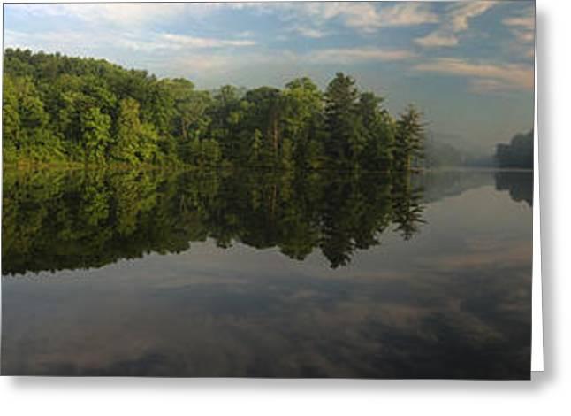 Lake Hope Sunrise Panorama Greeting Card