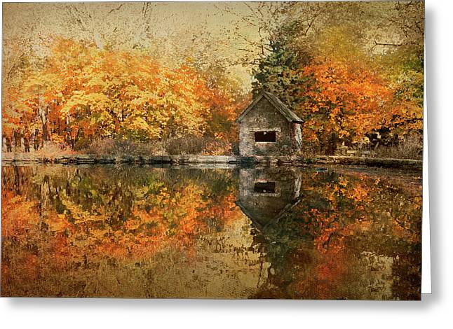 Lake House Greeting Card by Diana Angstadt