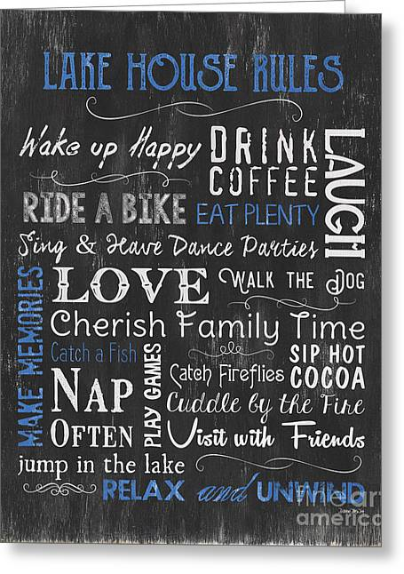 Lake House Rules Greeting Card
