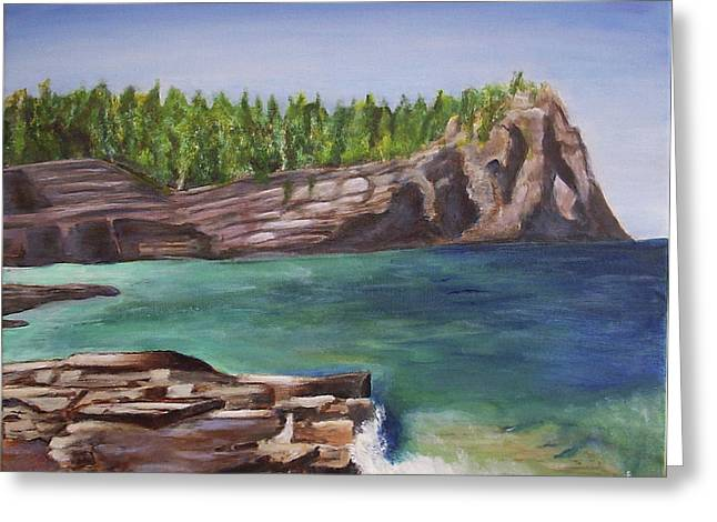 Lake Huron Greeting Card by Silvia Philippsohn
