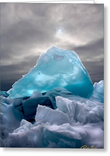 Lake Ice Berg Greeting Card