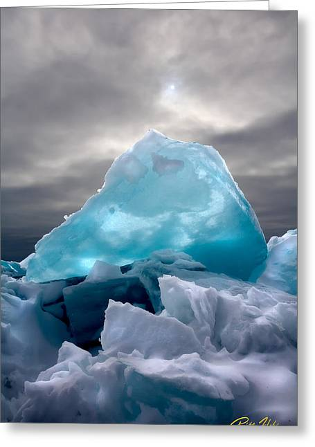 Lake Ice Berg Greeting Card