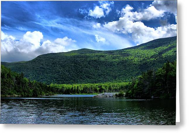 Lake In The Mountains  Greeting Card by Edward Myers
