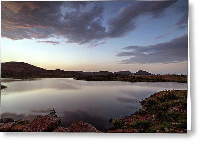 Lake In The Wichita Mountains  Greeting Card