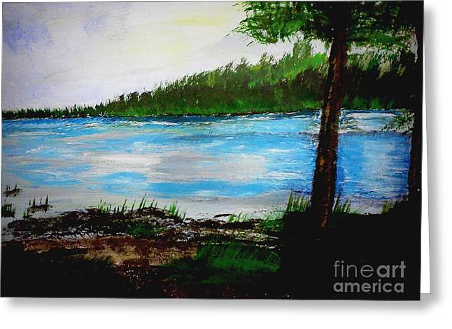 Lake In Virginia The Painting Greeting Card