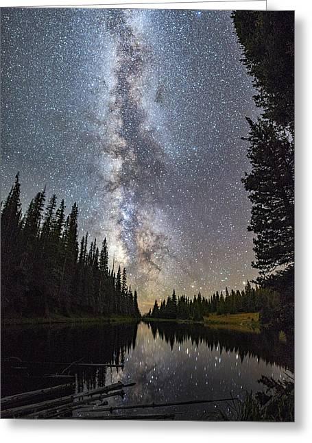 Lake Irene Under The Stars Greeting Card
