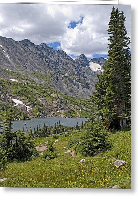 Lake Isabelle And Surrounding Mountains Indian Peaks Wilderness Colorado Greeting Card