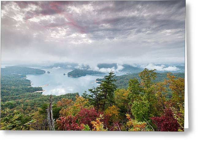 Lake Jocassee Clearing Storm Sunset Greeting Card by Mark VanDyke