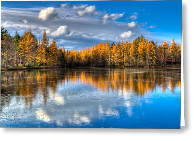 Lake Kan-ac-to At Woodcraft Camp Greeting Card by David Patterson