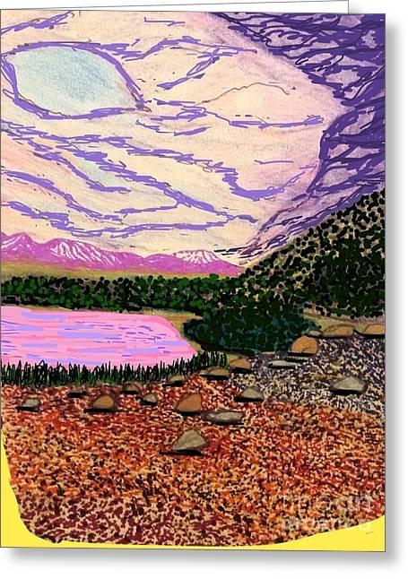 Lake La Story Greeting Card by Ishy Christine Degyansky