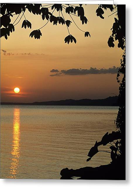 Lake Lago And Sunset Greeting Card by Don Kreuter