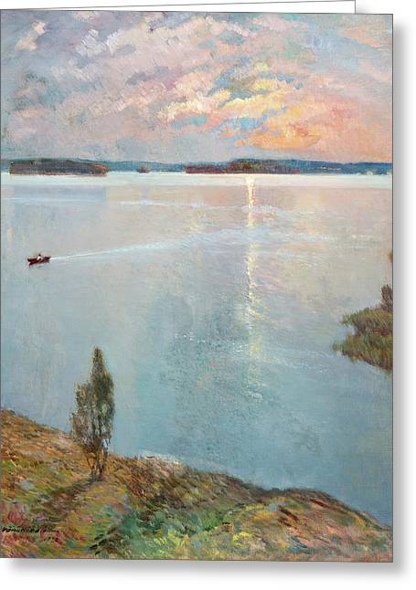 Lake Landscape Greeting Card by MotionAge Designs
