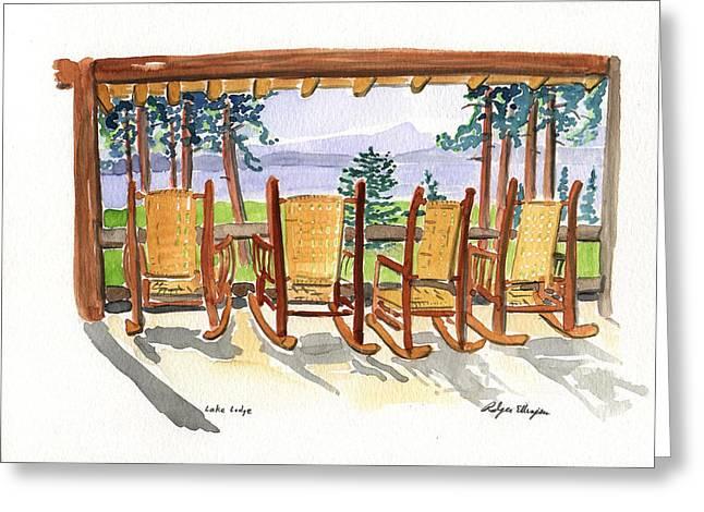 Lake Lodge Greeting Card by Rodger Ellingson
