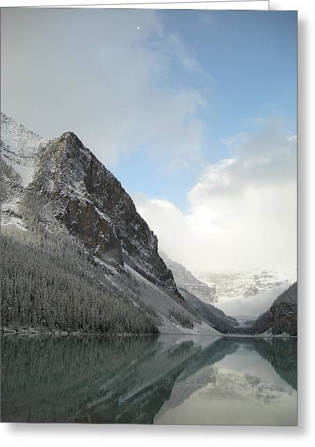 Lake Louise After First Snowfall  Greeting Card