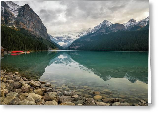 Lake Louise In The Fall Greeting Card