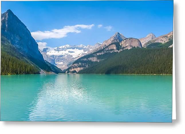 Lake Louise Mountain Lake Greeting Card by JR Photography