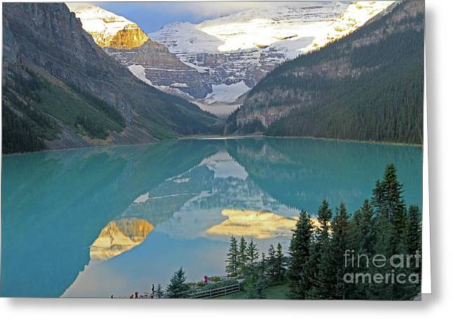 Lake Louise Sunrise Greeting Card
