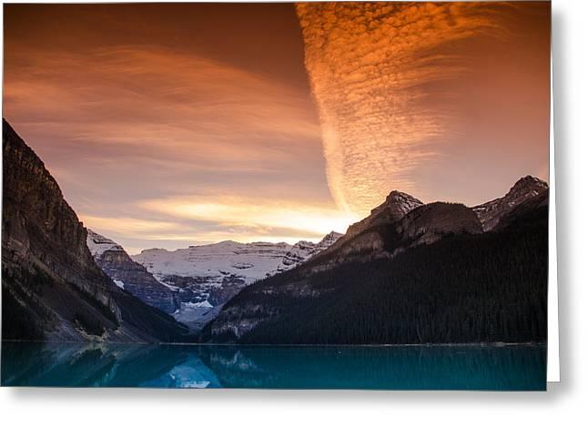 Lake Louise Sunset Greeting Card