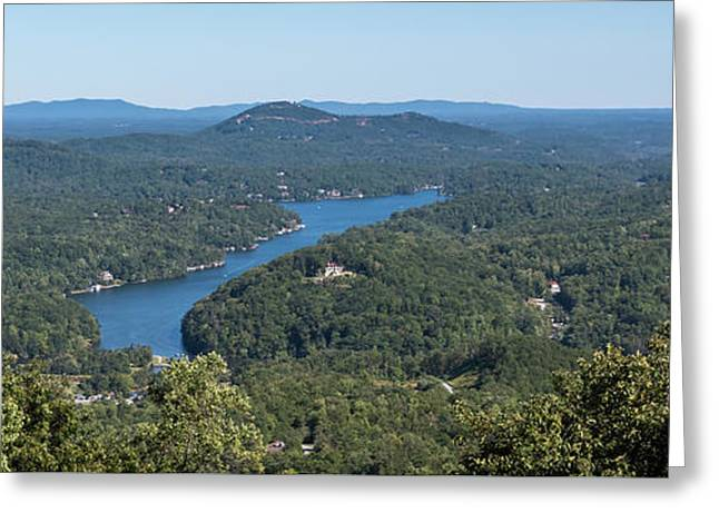 Lake Lure North Carolina Panoramic Greeting Card