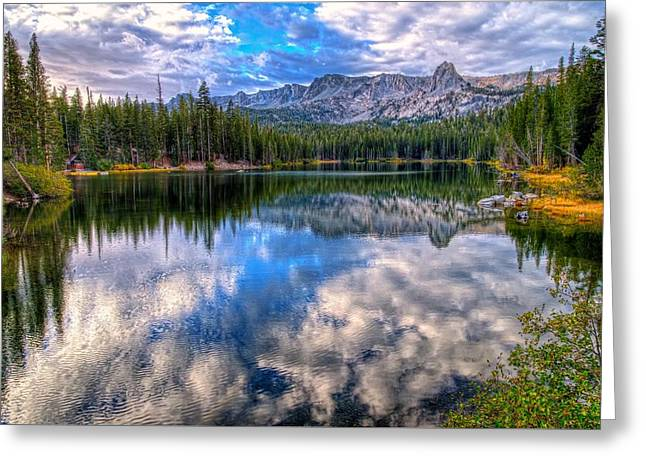Lake Mamie Reflections Greeting Card by Lynn Bauer