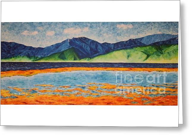 Lake Manasarovar - Original Greeting Card by Mikhael van Aken