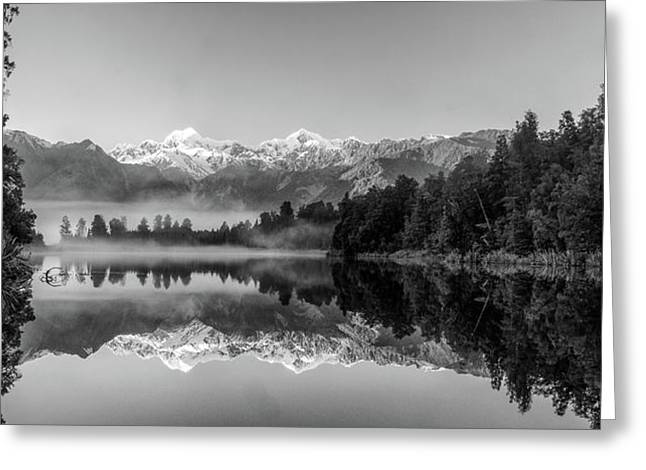 Lake Matheson Greeting Card by Martin Capek
