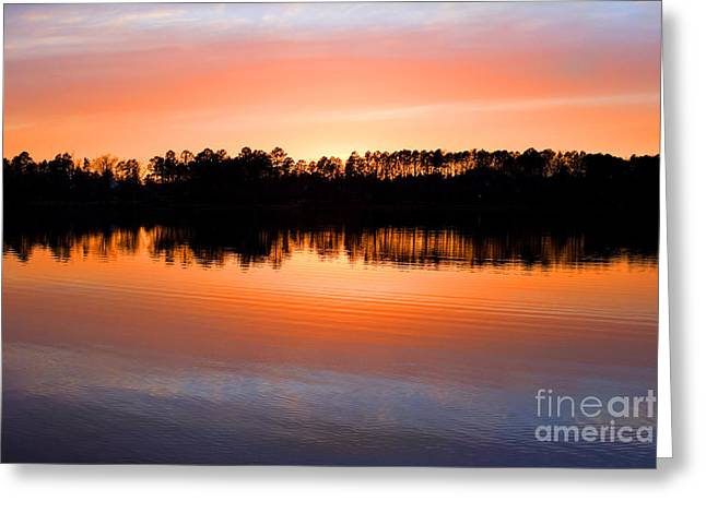 Lake Maumelle Sunset Greeting Card
