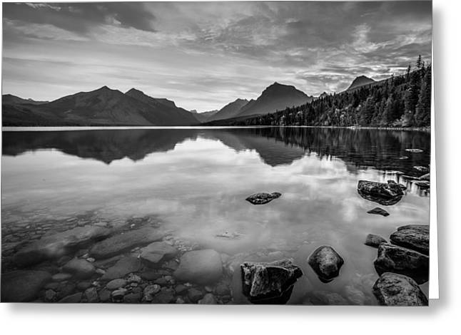Greeting Card featuring the photograph Lake Mcdonald by Adam Mateo Fierro