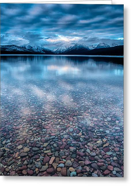 Lake Mcdonald Calm, Glacier National Park Greeting Card
