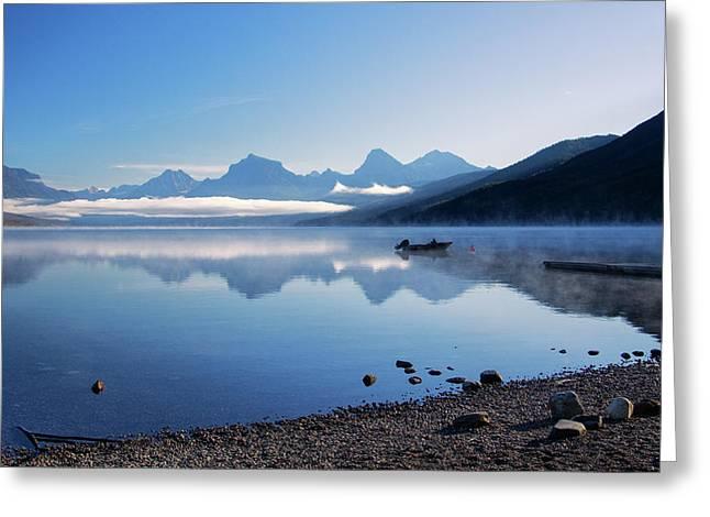 Lake Mcdonald Morning Greeting Card