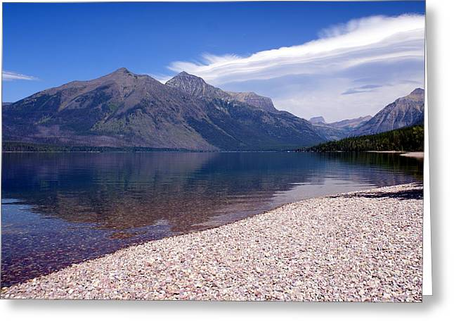 Lake Mcdonald Reflection Glacier National Park 4 Greeting Card by Marty Koch