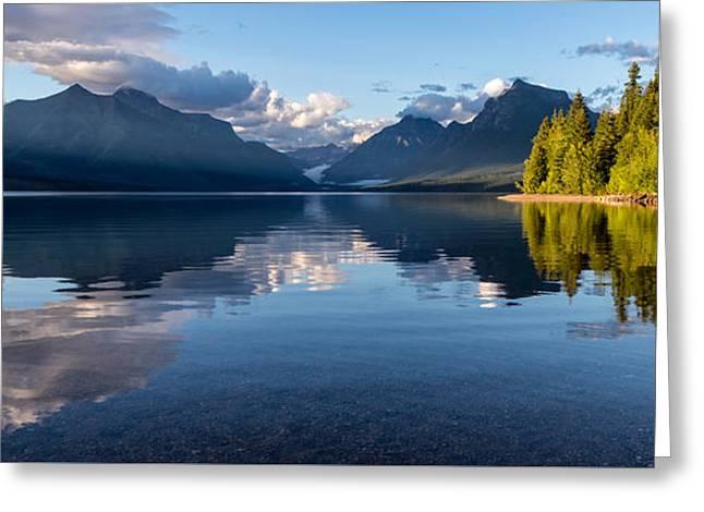 Lake Mcdonald Reflections Greeting Card