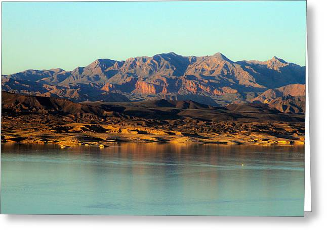 Lake Mead Before Sunset Greeting Card