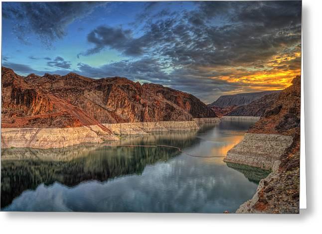 Lake Mead Sunrise Greeting Card