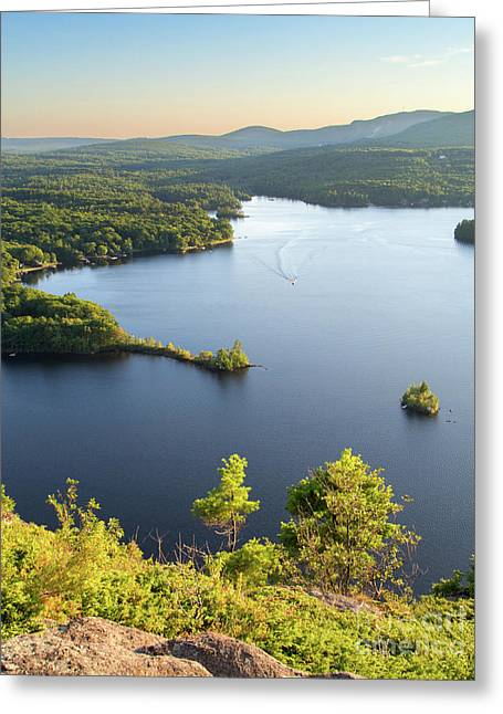 Lake Megunticook, Camden, Maine  -43960-43962 Greeting Card