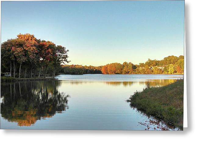 Greeting Card featuring the photograph Lake by Melinda Blackman