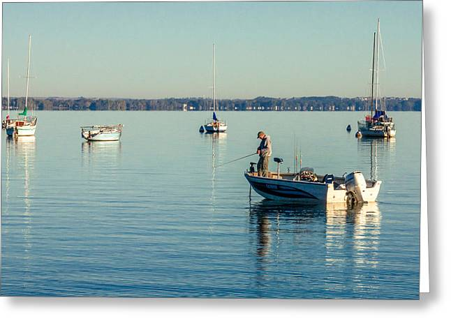 Lake Mendota Fishing Greeting Card by Todd Klassy