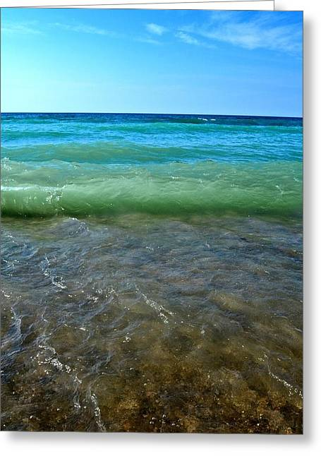 Lake Michigan Layers 2.0 Greeting Card by Michelle Calkins