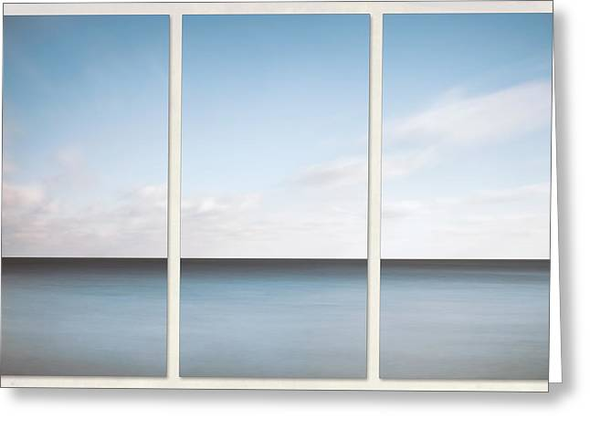 Lake Michigan Minimalist Triptych Greeting Card