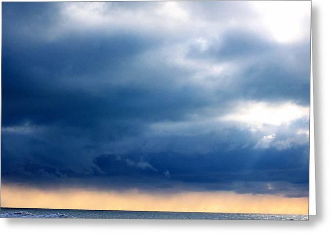 Lake Michigan Sky Greeting Card by Andrew Jagniecki